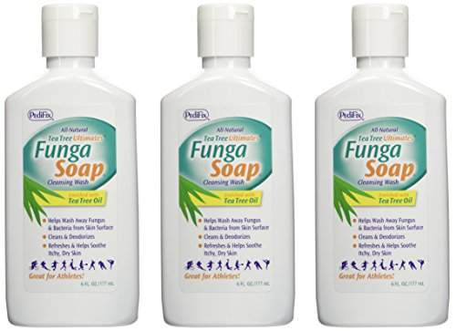 PediFix Tea Tree Ultimates FungaSoap Cleansing Wash, 6 OZ (Treatment For Excessive Sweating All Over Body)
