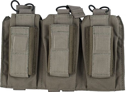 Enhanced Pistol Mag Pouch - Tactical Assault Gear MOLLE Shingle/Pistol Enhanced 3 Magazine Pouch, Ranger Green