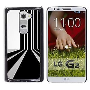 A-type Arte & diseño plástico duro Fundas Cover Cubre Hard Case Cover para LG G2 (Código de barras de pared)