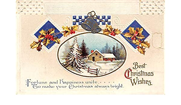 Christmas Card Artist.Christmas Post Card Artist Ellen Clapsaddle Writing On Back