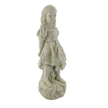 19 Inch Alice in Wonderland Museum White Garden Statue