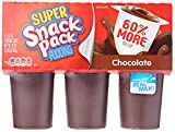 Conagra Grocery Hunts Super Snack Pack Pudding Creamy Chocolate Cups, 6 ct