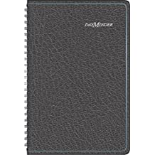 DayMinder 2016 Recycled Weekly Appointment Book, 12 Months, 4-7/8 X 8 Inch Pages, Black