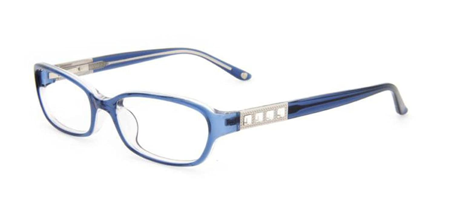 d05163f82bc3 Bebe FLIRTY Eyeglasses BB5049 NAVY CRYSTAL at Amazon Men s Clothing store