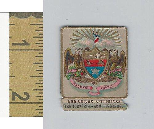 Victorian Diecuts, 1890's, US History, State Seals, Arkansas (Arkansas Seal)