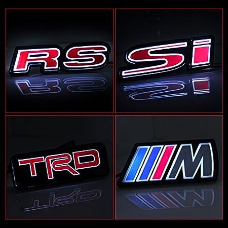 Alichee LED Car Front Grille Badge LED Light Emblem for Honda Civic Accord Audi Focus Camaro Megane RS