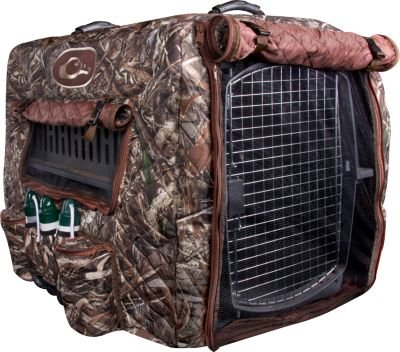 Drake Waterfowl Deluxe Insulated Adjustable Dog Kennel Cover (Shadow Grass Blades)