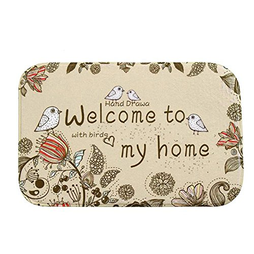 Iuhan Fashion Mat Outdoor Indoor Antiskid Decor Doormat (F) (Indian Couple Costume)
