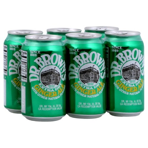 Dr. Brown Ginger Ale Soda 6 pack, 12-ounces (Pack of4)