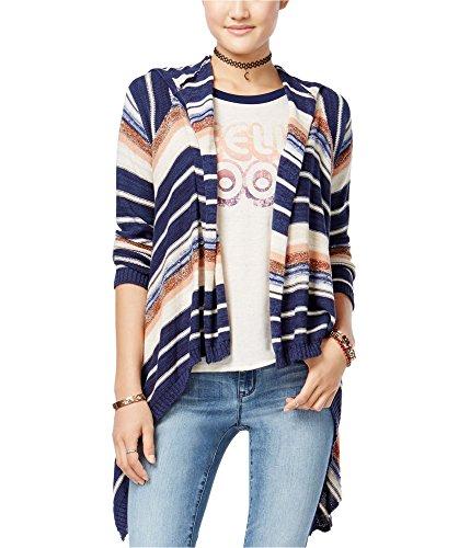 - American Rag Womens Hooded Stripe Cardigan Sweater Multicoloured XS