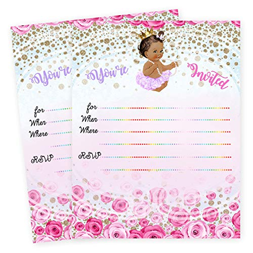 (Girl Baby Shower Invitations Queen Princess Invites Set of 20)