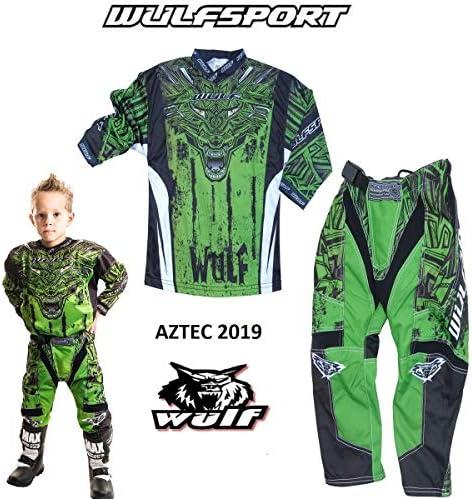 Wulfsport MOTORRADKOMBI FORTE 2019 Kinder Motorrad Anzug Motocross ATV Quad Cross Rennen MX Hose e Hemden Sport Bekleidung Mehrere Farben