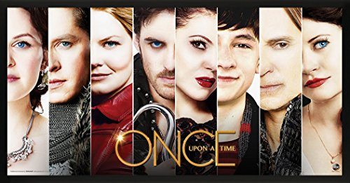 Culturenik Once Upon a Time Main Cast Faces Close Up Fantasy Drama Fairy Tale TV Television Show Print (Framed 12x24 Poster)