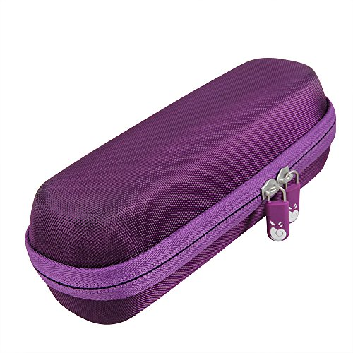 Hard EVA Travel Purple case for iProven DMT-489 Medical Forehead and Ear Thermometer By Hermitshell