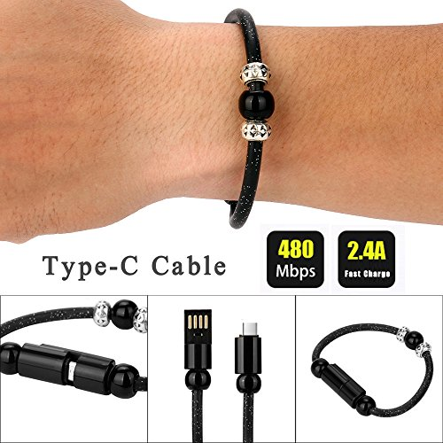Aitena Creative Type-C Data Cable Bead Bracelet Charger for Smart Phone