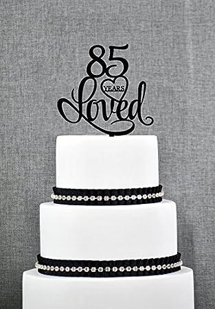 85 Jahre Loved Birthday Cake Topper Elegant Tortenaufsatz Jahrestag Kuchen