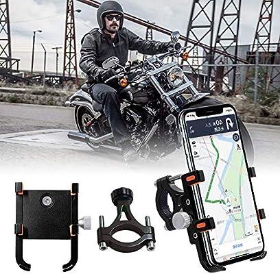 Soporte de móvil para moto con seis garras de aleación de aluminio ...