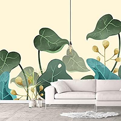 Wonderful Print, Classic Design, Wall Murals for Bedroom Green Plants Animals Removable Wallpaper Peel and Stick Wall Stickers