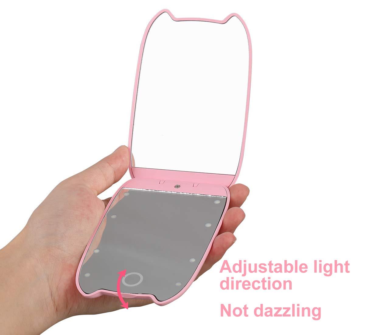 Amazon.com: Looife - Espejo de maquillaje con luz LED, 2 ...