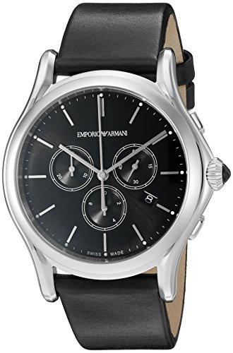 Emporio-Armani-Swiss-Made-Mens-ARS4001-Analog-Display-Swiss-Quartz-Black-Watch