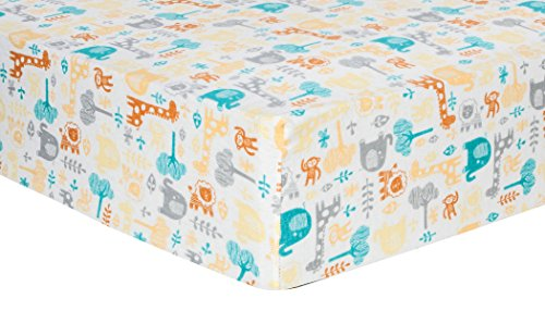Trend-Lab-Deluxe-Flannel-Fitted-Crib-Sheet-Lullaby-Zoo