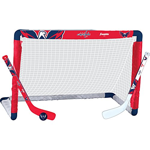 Franklin Sports NHL League Logo Washington Capitals Mini Hockey Set