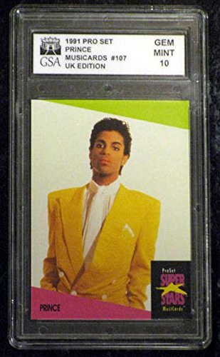 - PRINCE 1991 PRO SET MUSICARD UK EDITION TRADING CARD #107 GRADED GEM MINT 10