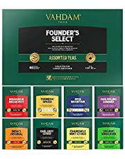 VAHDAM, Assorted Tea Bags Sampler | 8 Tea Flavors, 40 Tea Bags | Best Father's Day Gifts | Award Winning Black, Green, Oolong, Herbal Tea Bags | Brew Iced Tea or Hot | Tea Variety Pack & Gift Set