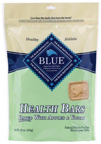 Blue Buffalo Baked Health Bars Dog Pet - Apple and Yogurt - 1 Pound Bag - USA Pet Buffalo Jerky