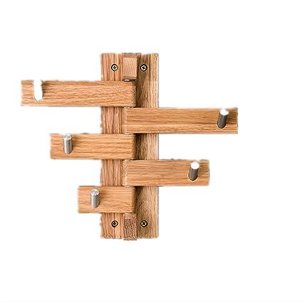 HUAIHAIZ Creative Wall Hook Coat Colgador de Rack Giratorio de Madera Strong wallwall de Acero Inoxidable