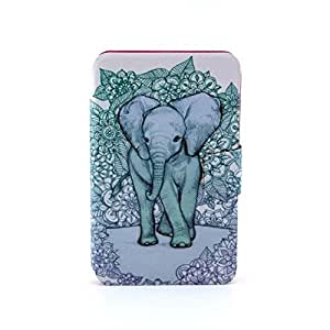 Ilovecase Cartoon Elephant Pattern 360 Degrees Rotation Folding Stand Flip Case Cover Skin Protector Cards Slots Wallet for Samsung Galaxy Tab 3 Lite T110