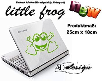 "Vinilo Adhesivo para Notebook/Laptop ""Little Frog – Pequeño Rana * *"