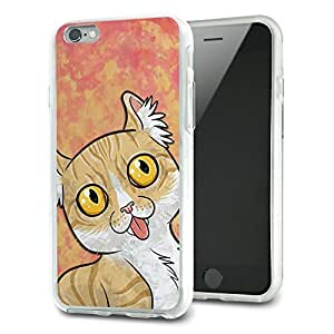 Cat with Tongue Hanging Out Slim Fit Hybrid Case Fits Apple iPhone 6 Plus