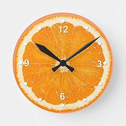 Quartz Wall Clock Citrus Fruit 12 hour Orange Lime Lemon or Grapefruit