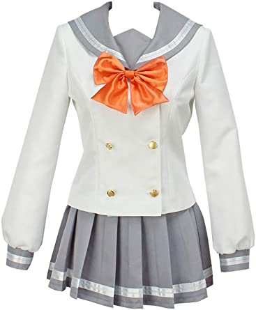 Love Live Sunshine Aqours Kunikida Hanamaru Cosplay Costume White Dress