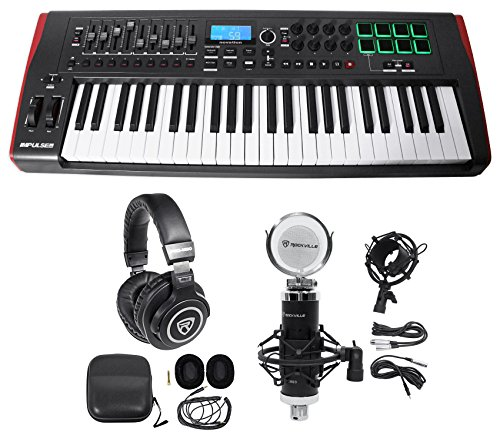 Novation IMPULSE 49-Key Ableton Live MIDI USB Keyboard Controller+Headphones+Mic by Novation