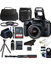 Canon EOS Rebel T100 (EOS 4000D) DSLR Camera w/ 18-55mm DC III Zoom Lens + Pixibytes Deluxe Bundle
