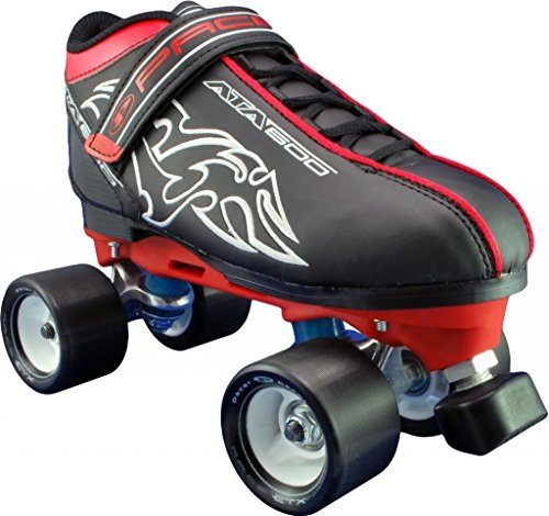 Pacer ATA-600 Red Speed Skates - Pacer Red Quad Speed Roller Skates ()