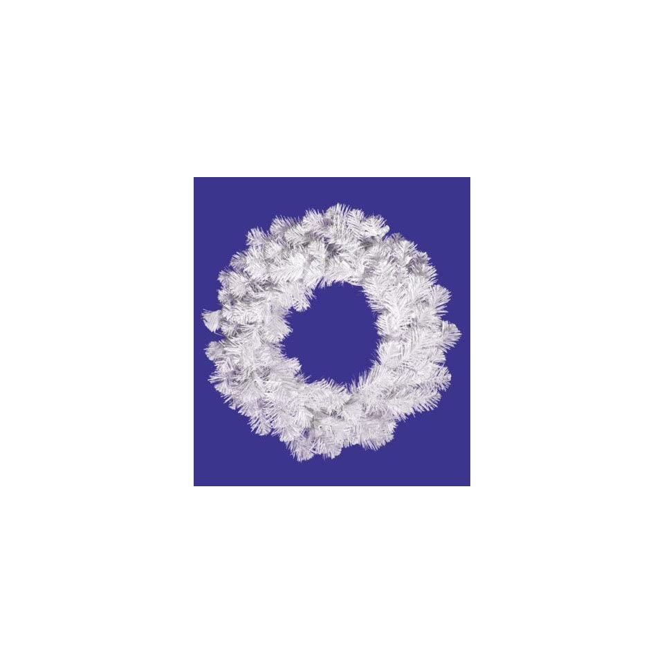 20 Crystal White Spruce Artificial Christmas Wreath   Unlit