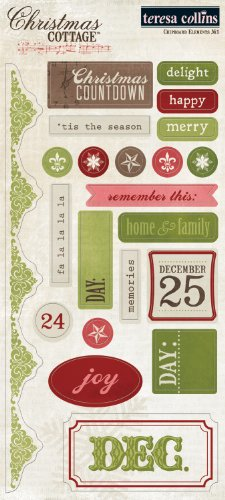 ns Christmas Cottage Chipboard Elements 1 ()