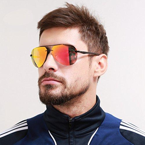 Square Vintage Reflexivas Hombre PolarizadasSin Mujer Sol Estilo 3 Gafas Gafas Lentes Lvguang de Casuales bordeGafas xqwEfCv8