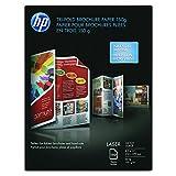 HP Q6612A Tri-Fold Laser Brochure Paper, 97 Brightness, 40lb, 8-1/2 x 11, White (Pack of 150)