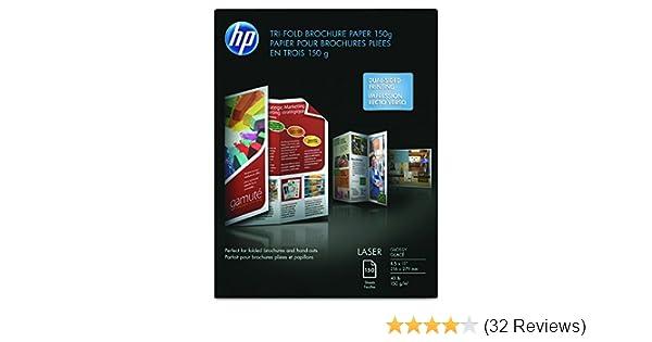 amazon com hp q6612a tri fold laser brochure paper 97 brightness