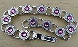 40 Caliber Bullet Tennis Bracelet with Rose Crystals