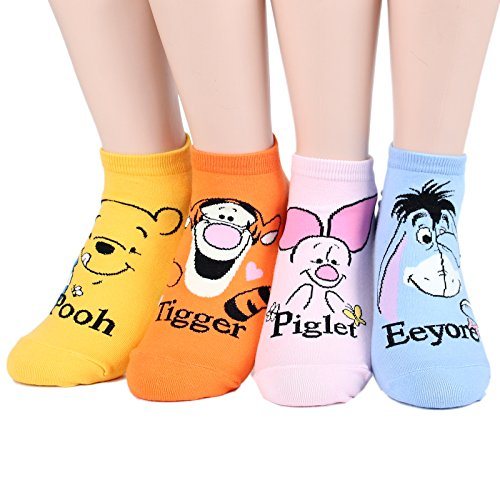 Kiss socks Socksense Animation Character Disney Series Women's Original Socks (Honey_4pairs) ()