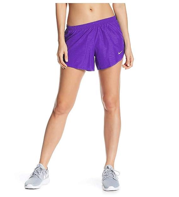 c9c5ce52e23a Amazon.com : NIKE Women's Modern Embossed Tempo Running Shorts (Purple,  Large) : Sports & Outdoors