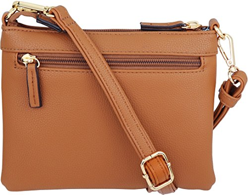 Tan Mini Crossbody Accents Zipper Handbag Multi Tassel with Purse ngn8qTZw7