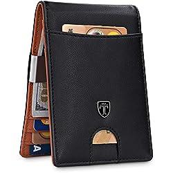 "TRAVANDO Money Clip Wallet""RIO"" Mens Wallet Front Pocket Wallet Slim Wallets RFID Blocking | Credit Card Holder | Minimalist Mini Bifold Gifts for Men"