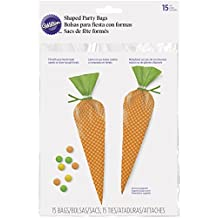 Wilton 1912-2770 15 Count Carrot Treat Bags, Assorted