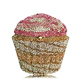Sviper Exquisite Clutch Rhinestone Dinner Package Ice Cream Cup Makeup Cake Bag Lady Clutch Evening Package